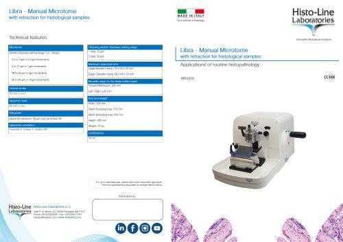 MR 3000 Microtome rotative manual with retraction