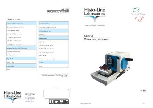 MR2258 Microtome rotative manual