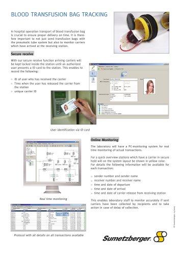 Blood transfusion bag tracking