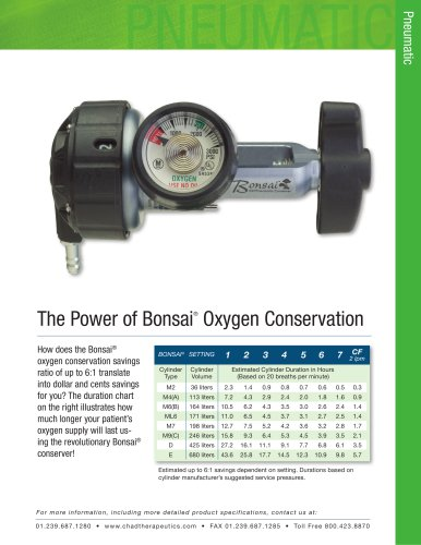 Bonsai Om 810ce Duration Chart Chad Therapeutics Pdf Catalogs Technical Documentation