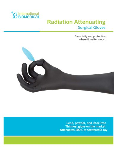 Radiation Attenuating Surgical Gloves