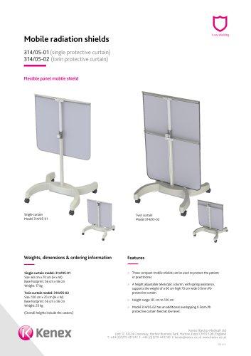Flexible height adjustable mobile shield 314/05-02