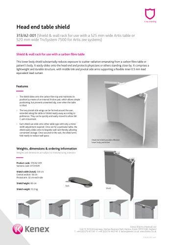 Head end table shield 313/A2