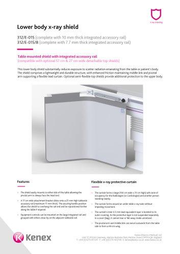 Lower body x-ray shield 312/E-015