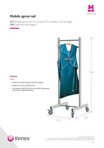 Mobile apron rail 103