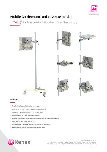 Mobile DR detector and cassette holder 1305/8/1