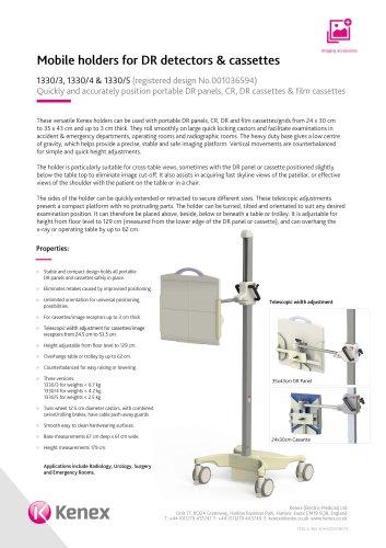 Mobile DR detector and cassette holder 1330/3,1330/4,1330/5