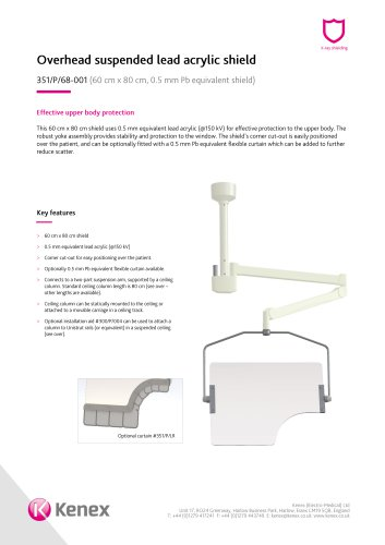 Overhead ceiling mounted shield 351