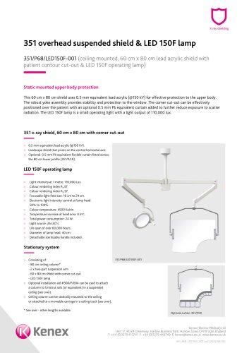 Overhead shield & lamp 351