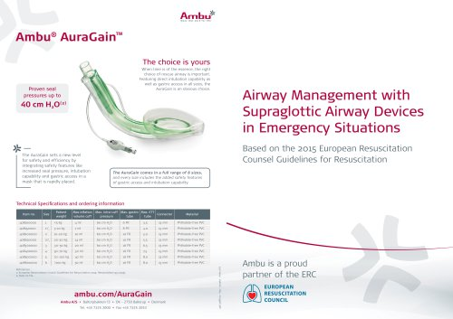 Airway Management with  Supraglottic Airway Devices in Emergency Situations