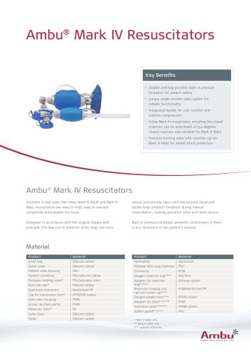 Ambu® Mark IV Resuscitators