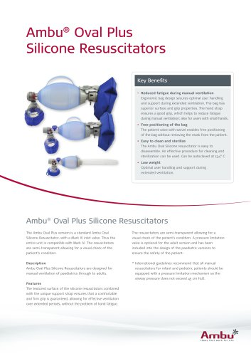 Ambu® Oval Plus Silicone Resuscitators