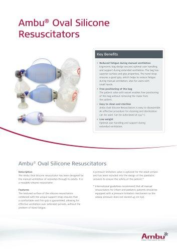 Ambu® Oval Silicone Resuscitator