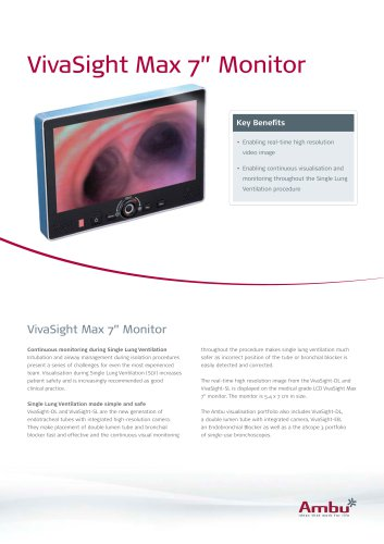 Datasheet VivaSight Max Monitor