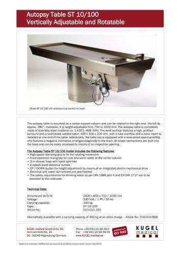 Autopsy Table ST 10/100
