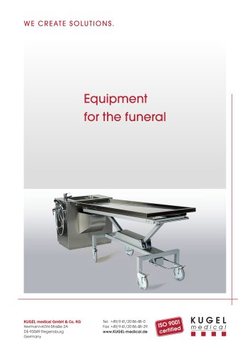 Equipment for the funeral