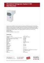Monoblock  Refrigerator  System H 80 Wall  Mounted - 1