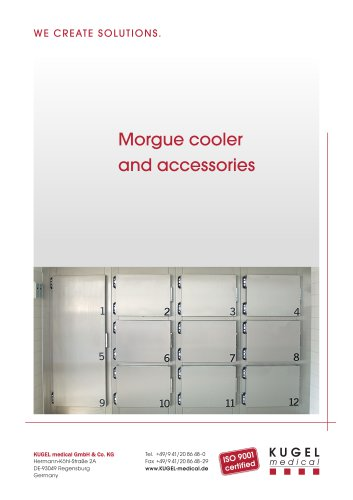 MORGUE COOLERS AND ACCESSORIES