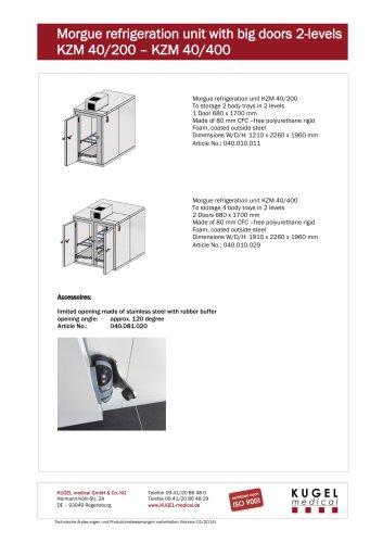 Morgue refrigeration unit with big doors 2-levels