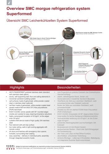 Overview SMC morgue refrigeration system Superformed