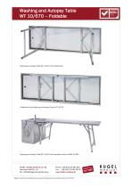 Washing and Autopsy Table  WT 10/670  – Foldable - 2