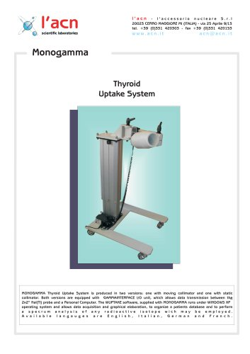Thyroid Uptake System Monogamma