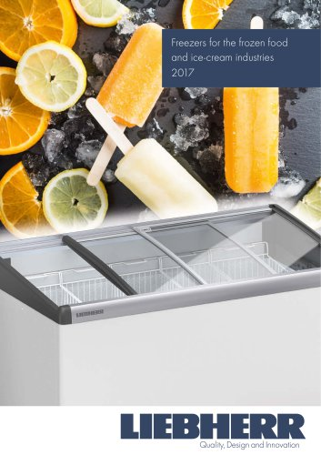 Freezers for the frozen food and ice-cream industries 2017