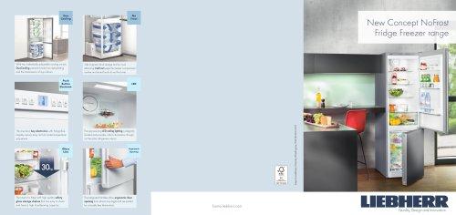 New Concept NoFrost Fridge Freezer range