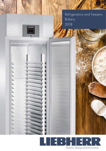 Refrigerators and freezers Bakery 2018