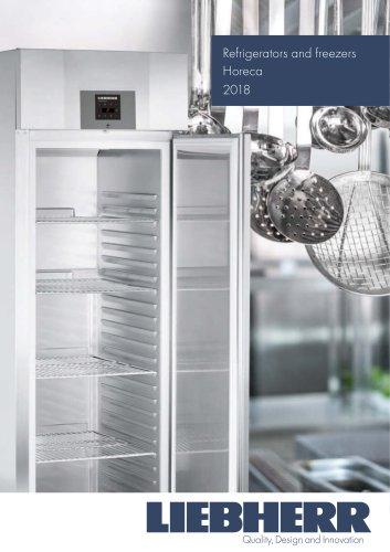 Refrigerators and freezers Horeca