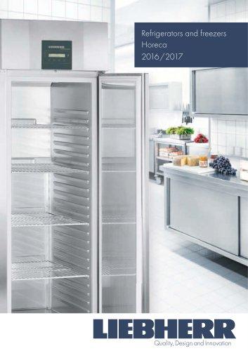 Refrigerators and freezers Horeca 2016/2017