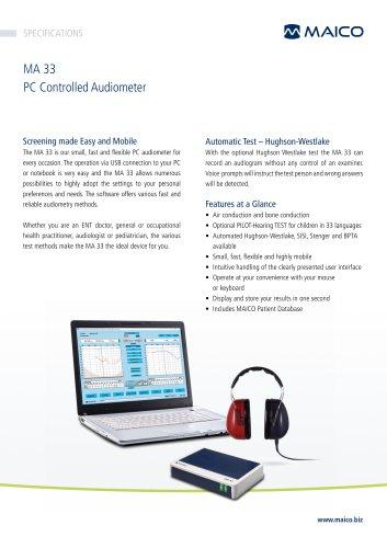 MA 33 PC Audiometer