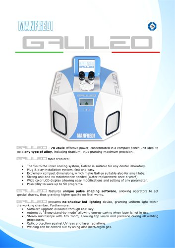 NEW GALILEO LASER