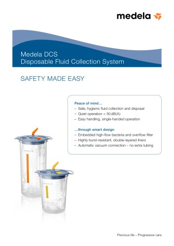 Brochure Medela DCS (Disposable Collection System)