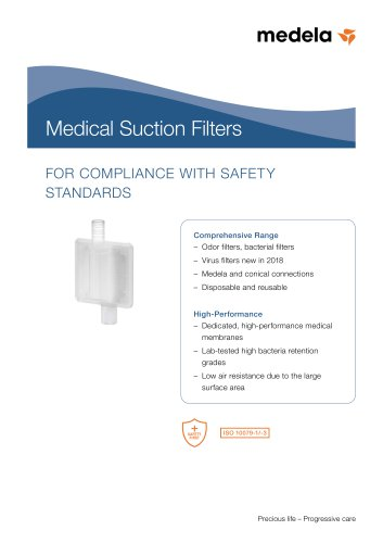 Brochure medical suction filters