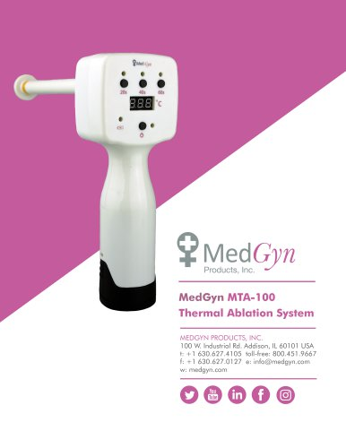 MedGyn MTA-100 Thermal Ablation System
