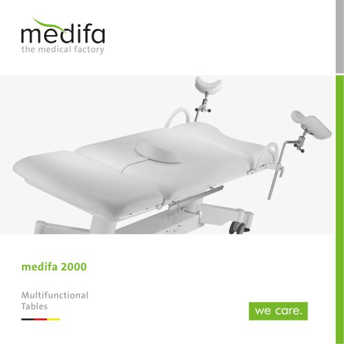 medifa 2000 - Multifunctional Tables