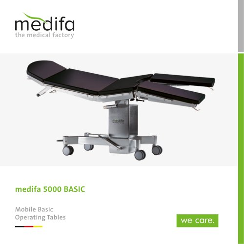 medifa 5000 Basic – Mobile basic operating tables