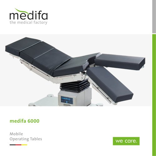 medifa 6000 – Mobile operating tables