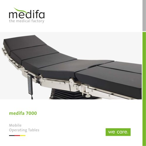 medifa 7000 – Mobile operating tables