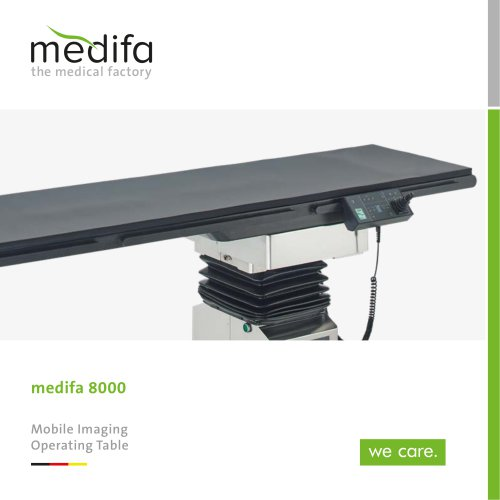 medifa 8000 – Mobile imaging operating tables