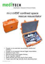 microVENT confined space rescue resuscitator