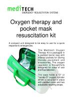 Oxygen therapy and pocket mask resuscitation kit