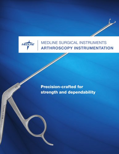 Arthroscopic instruments brochure