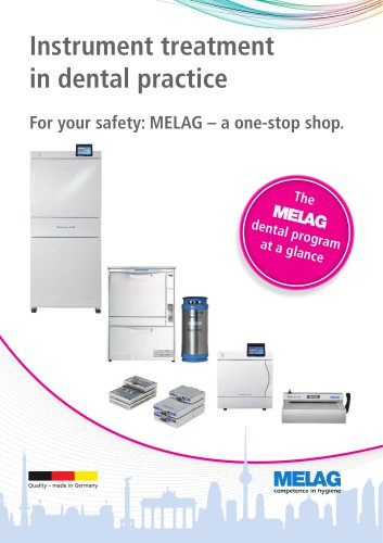 The MELAG dental program at a glance