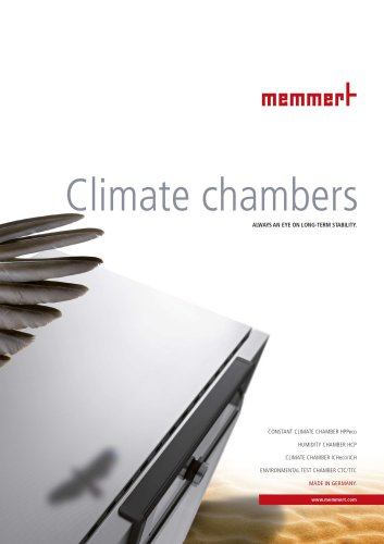 """Brochure """"Climate Cabinets"""""""