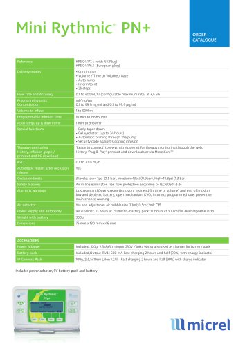 Mini Rythmic PN+ Technical Sheet_ EN