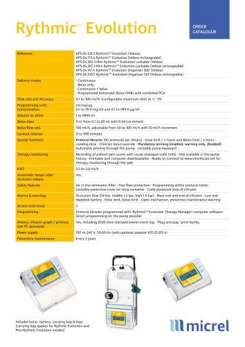 Rythmic Evo Yellow_Technical Sheet_ EN