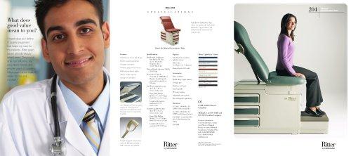 Brochure: 204 Manual Examination Table