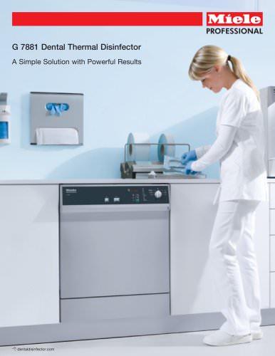 Dental Thermal Disinfector